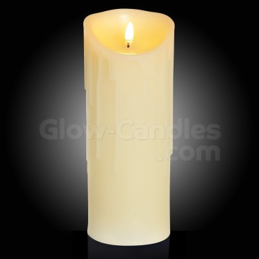23cm Flickabright Wax Drip Candle