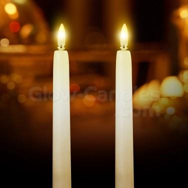 27cm Flickabright Dinner Candles
