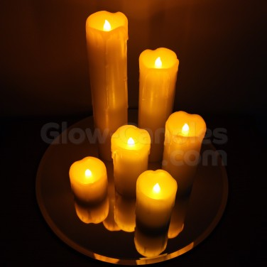 Skinny Wax Drip LED Candles (6 Pack)